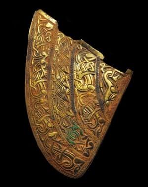 Staffordshire hoard: Gold helmet cheek piece
