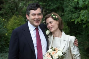 Sarah Brown: on her wedding day to Gordon Brown in North Westferry