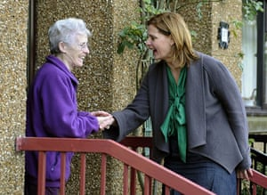 Sarah Brown: speaks to resident as she canvasses support in Cardenden