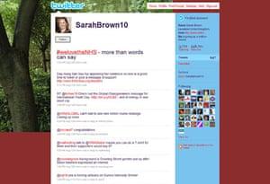 Sarah Brown: defending the NHS on Twitter