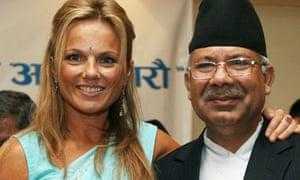 Geri Halliwell and Madav Kumar Nepal