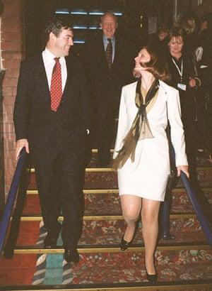 Sarah Brown: Gordon Brown with girlfriend Sarah Macauley at Labour Conference 1998