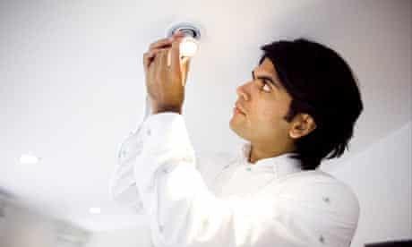 Alok Jha puts in a low-energy lightbulb.
