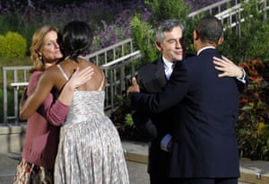 Sarah Brown: 2009: Barack Obama and First Lady Michelle welcome Sarah and Gordon Brown