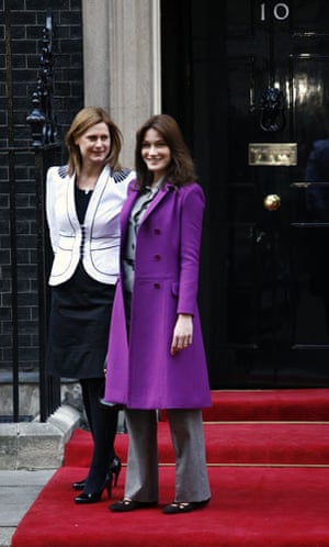 Sarah Brown: 2008: French first lady Carla Bruni-Sarkozy and Sarah Brown