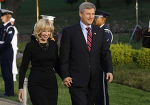 The wives of G20 leaders: Canada's prime minister Stephen Harper and his wife Laureen