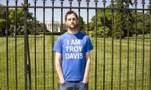 Keane drummer Richard Hughes outside the White House in Washington DC.