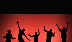 25 September 2009: Sofia, Bulgaria: Members of the French dance company 'Asphalte'
