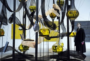 25 September 2009: Moscow, Russia: The contemporary art piece 'Cooking Crystal' by Tunga