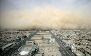Dust storm: a dust cloud enveloping the Saudi capital Riyadh