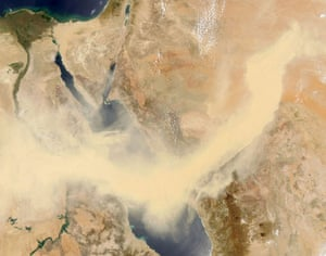 Dust storm: Dust Storm Moves Across Egypt and Saudi Arabia and Red Sea
