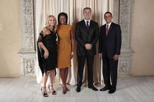 Obama and leaders at UN: Obama with T.H. Milo Djukanovic Prime Minister of Montenegro