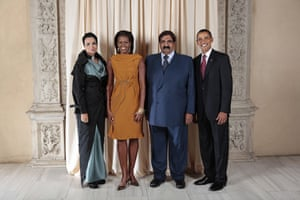 Obama and leaders at UN: Obama with Emir of the State of Qatar