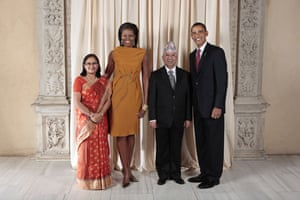 Obama and leaders at UN: Obama with Nepal Prime Minister