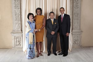 Obama and leaders at UN: Obama with Minister of Foreign Affairs of Malaysia