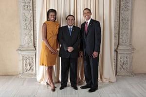 Obama and leaders at UN: Obama with Asif Ali Zardari President of the Islamic Republic of Pakistan