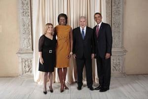 Obama and leaders at UN: Obama with Benjamin Netanyahu