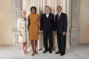 Obama and leaders at UN: Obama with president of estonia