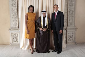 Obama and leaders at UN: Obama with prime minister of Kuwait