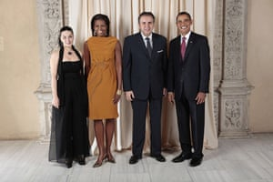 Obama and leaders at UN: Obama with Permanent Representative of Armenia to the United Nations