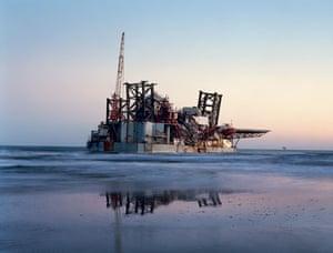 American Power: Ocean Warwick oil platform, Dauphine Island, Alabama,
