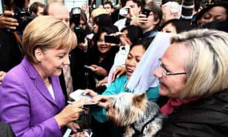 German chancellor Angela Merkel in Koblenz