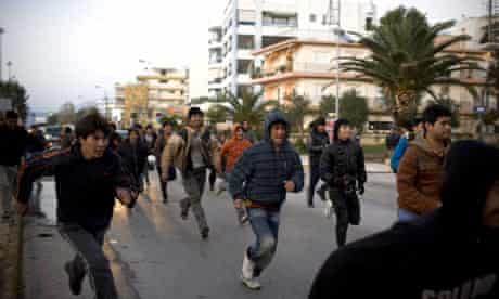 Illegal Immigrants in the port of Patras, Greece, 02 Feb 2009