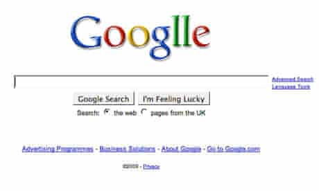 Google doodle on search page for company's eleventh birthday