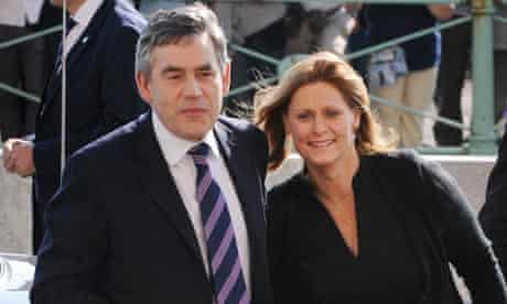 Gordon Brown and his wife Sarah arrive in Brighton for the Labour conference on September 27 2009.