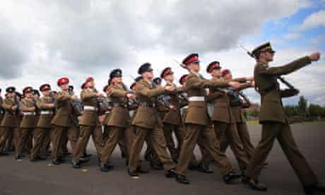 Recruits take part in military graduation parade
