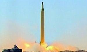 Iranian long-range Shahab-3 missile