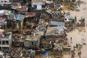 Philippines floods: Houses destroyed by flooding brought by tropical storm Ketsana in Marikina