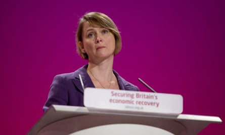 Yvetter Cooper speaks at the 2009 Labour conference in Brighton.