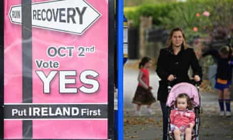 A campaign poster urging Irish voters to 'Vote Yes'