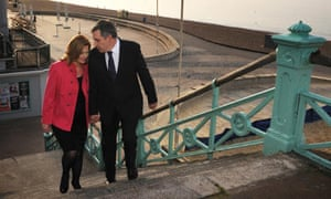 Gordon and Sarah Brown in Brighton