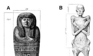Dr Granville's mummy: original drawings