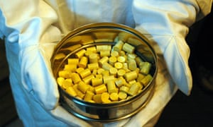 India nuclear plans: Thorium pellets at the Bhabha Atomic Research Centre (BARC) in Mumbai