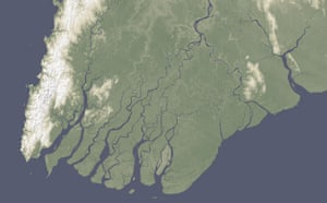 Satellite Eye on Earth: the Irrawaddy River delta in Burma
