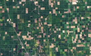 Satellite Eye on Earth: Farming fields, northwest Minnesota , US