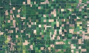 Satellite Eye on Earth : Farming fields, northwest Minnesota , US