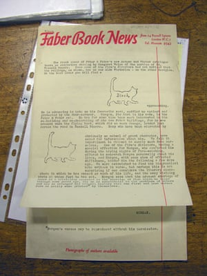 TS Eliot exhibition: Faber Book News