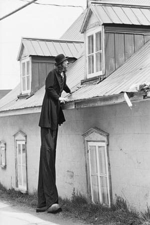 Cirque du Soleil: 1980: Gilles Ste-Croix on stilts