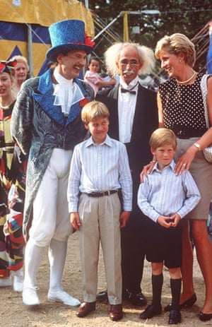 Cirque du Soleil: Diana Princess of Wales with Harry and William at the Cirque du Soleil