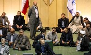 Ali Larijani at Iranian parliament