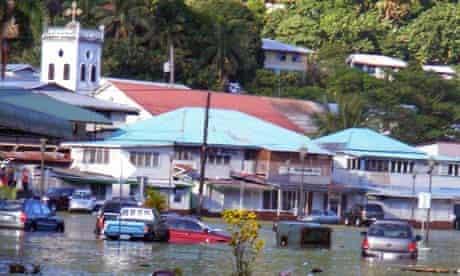 Damage from Samoan Tsunami
