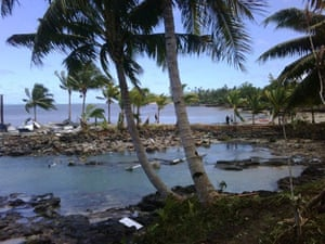 Tsunami in Samoa: The Sinalei resort after it was struck by a tsunami