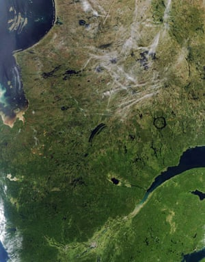 Satellite Eye on Earth: Manicouagan Reservoir, located in Quebec, Canada