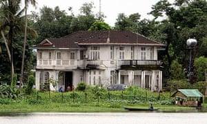 The lakeside home of Burma's detained pro-democracy leader, Aung San Suu Kyi, in Rangoon.