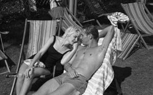 Paul Newman: Paul Newman on a deckchair