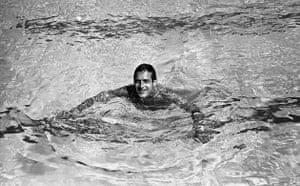 Paul Newman: Paul Newman swimming